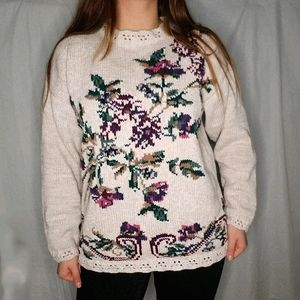 NORTHERN TRADITIONS ugly grandma vintage sweater L